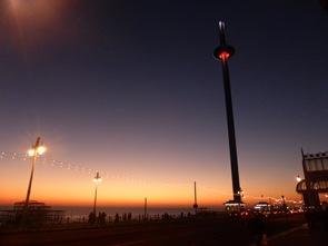 brighton tower night