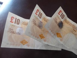 ten pounds notes