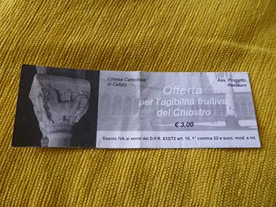 cefalu ticket
