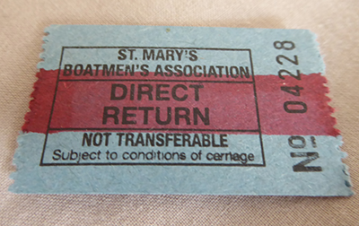 scilly boatmen ticket