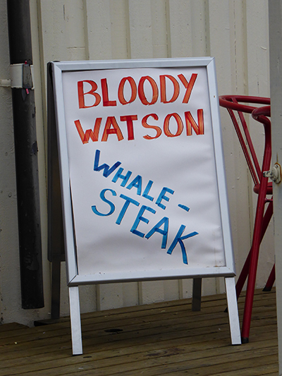 whale steak menu