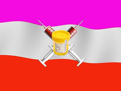 400 drugland flag and emblem