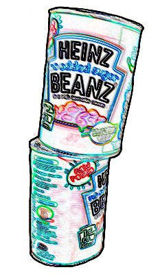 beans stacking stylised