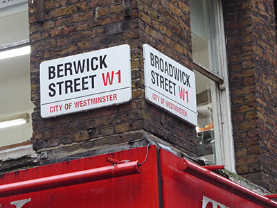 400 berwick street sign
