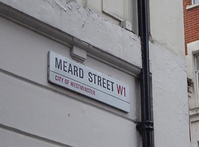 400 meard street sign