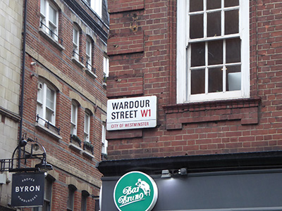 400 wardour street sign