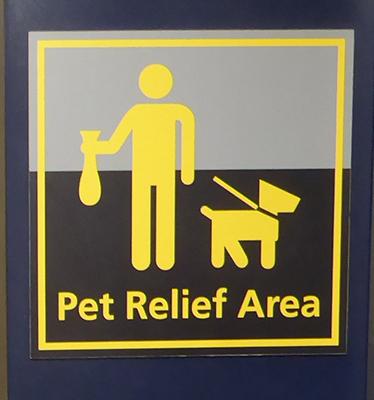 400 pet relief area