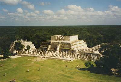 400 view fro top of el castillo chichen itza