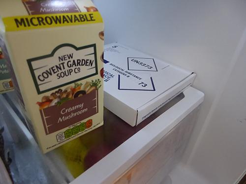 500 package in fridge